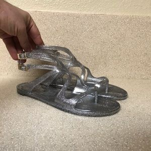 Jimmy Choo Lance Jelly Sandal Silver Sz 36 / 6